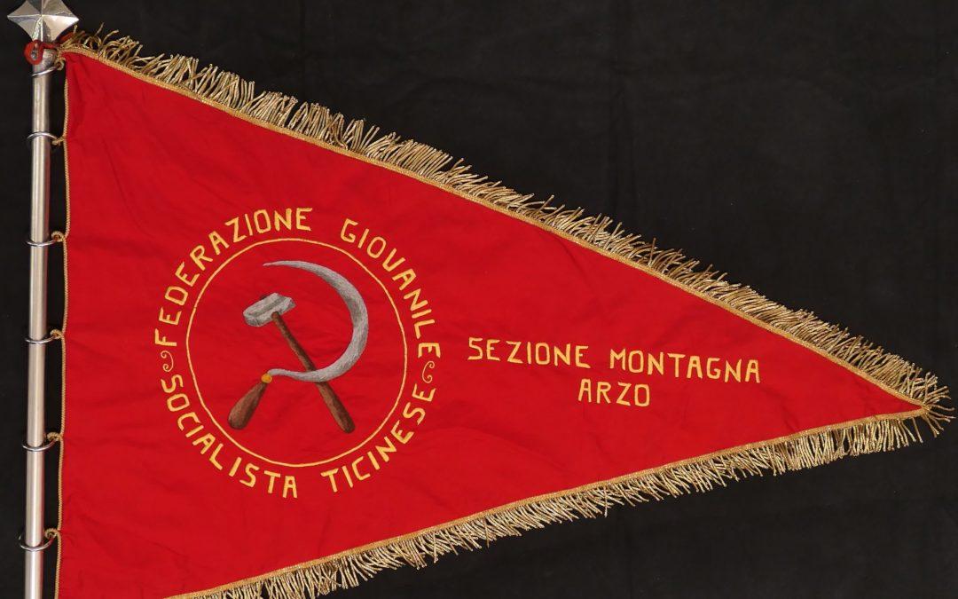 """Gagliardetto sezione giovanile socialista della """"Montagna-Arzo"""""""
